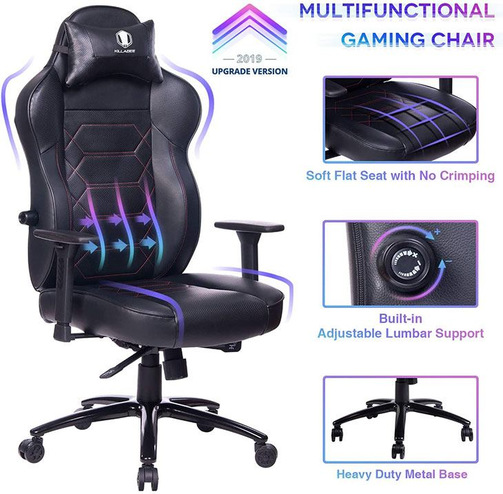 killabee big and tall gaming chair review